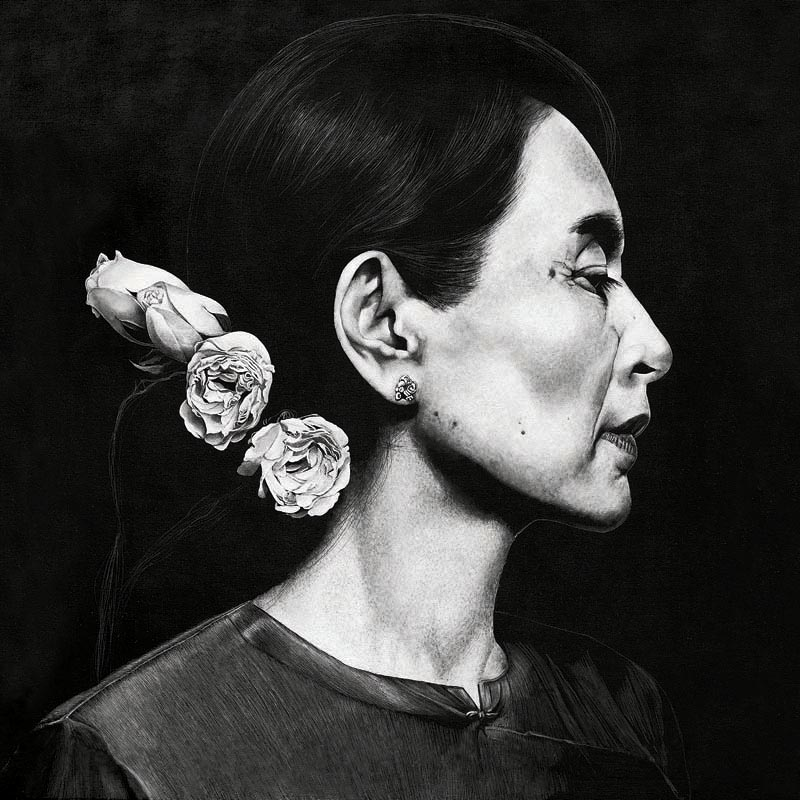 Aung San Suu Kyi  Marc Alexander Artworks  About English Language Essay also Essay With Thesis Statement Example Term Papers And Essays